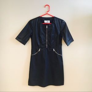 Maison Margiela Coated Cotton Pullover Style Dress